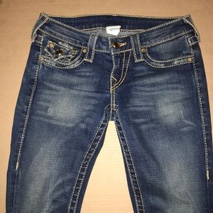 True religion Embellished Boot Cut Jeans